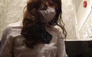 japanese crossdresser pantyhose stocking cosplay
